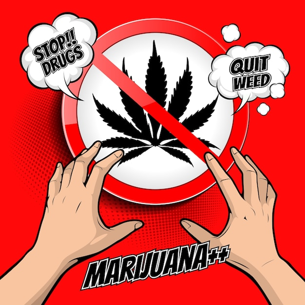 Ilustração para parar de drogas Vetor Premium