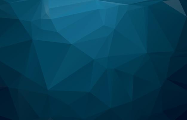 Ilustração poligonal azul, que consistem em triângulos. Vetor Premium
