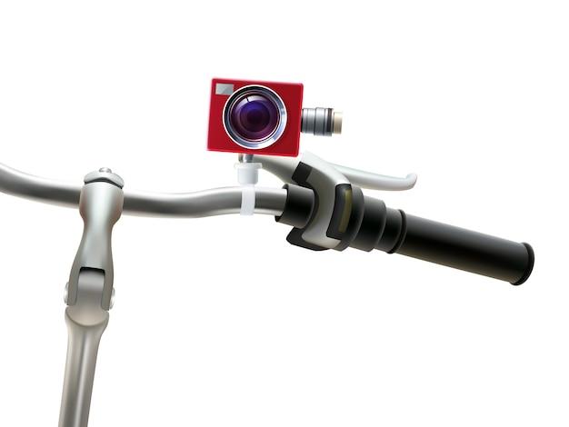 Ilustração realista de câmera de guidão Vetor grátis
