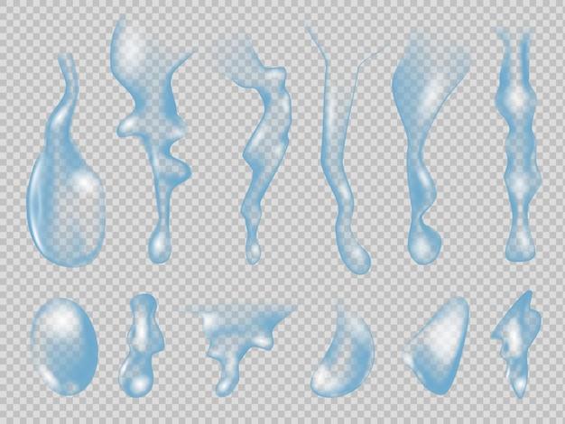 Ilustração realista de gotas de água Vetor Premium