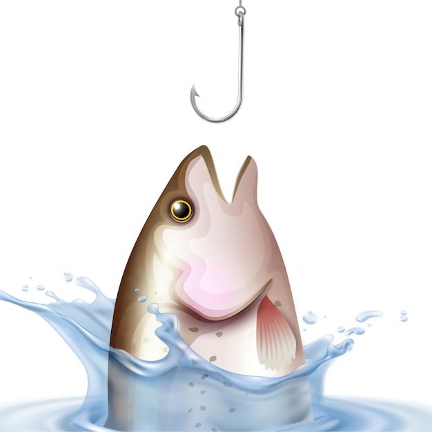 Ilustração realista de pesca Vetor grátis