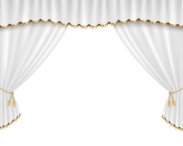 Ilustração realista de vetor de cortina Vetor Premium