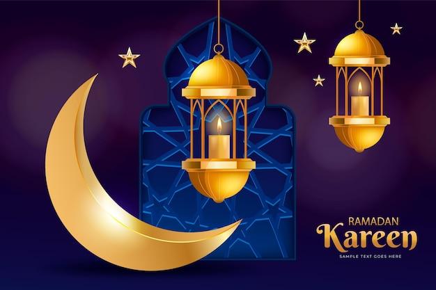Ilustração realista ramadan kareem Vetor grátis