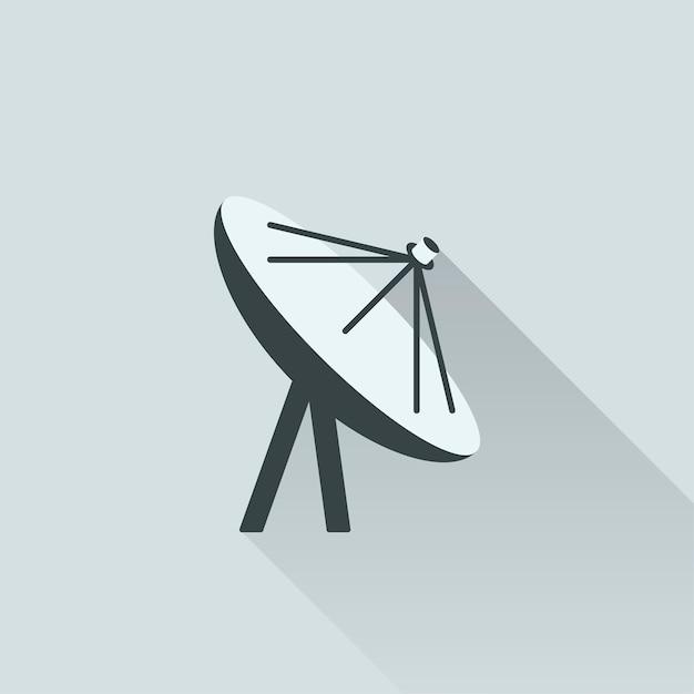 Ilustração, satélite, antena Vetor grátis