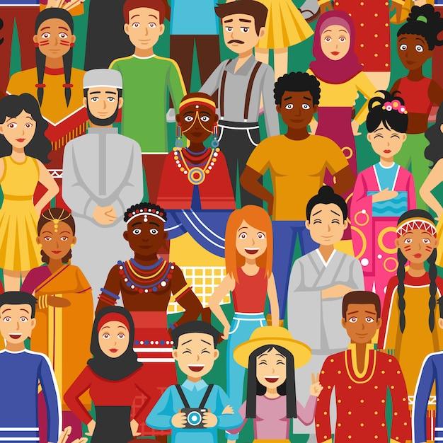 Ilustração sem emenda de nações Vetor grátis