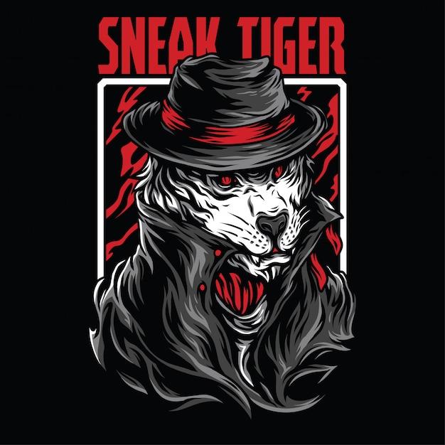 Ilustração sneak tiger Vetor Premium