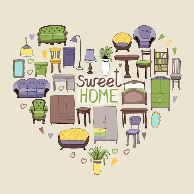 Ilustração sweet home Vetor grátis