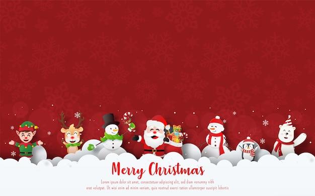 Ilustração temática de natal Vetor Premium