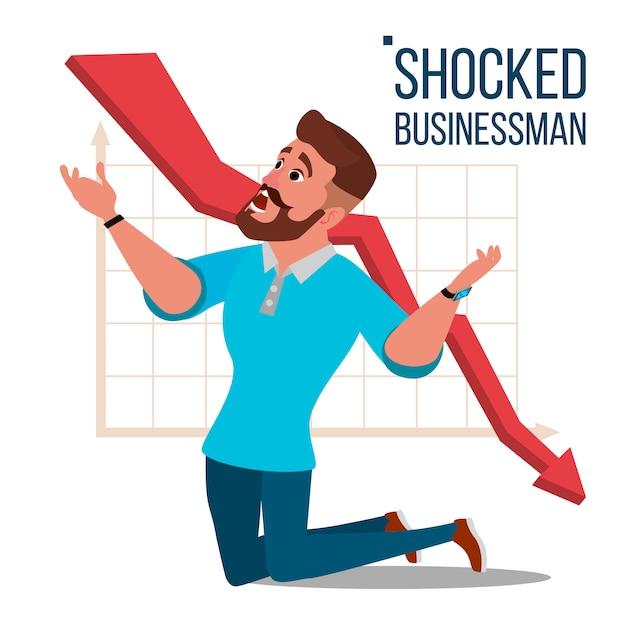 Ilustração triste empresário chocado Vetor Premium