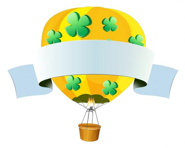 Ilustração vazia de balão de ar quente em um fundo branco Vetor grátis