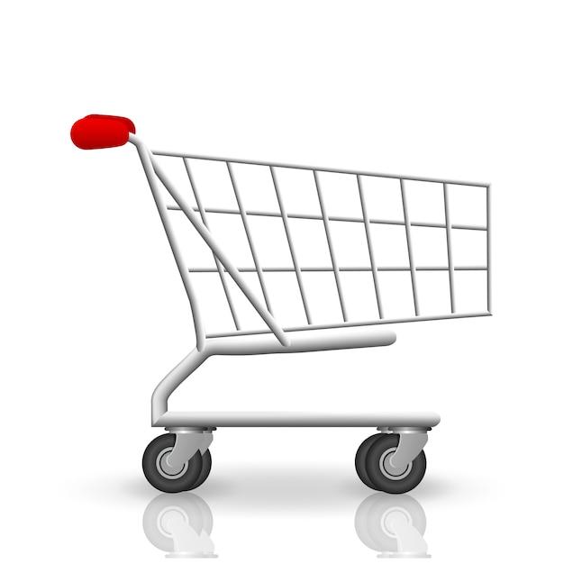 Ilustração vetorial com carrinho de compras isolado Vetor Premium