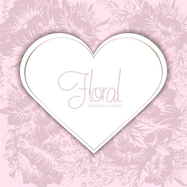 Ilustração vetorial com um coração. perfeito para dia dos namorados, aniversário, salvar o convite de data Vetor grátis