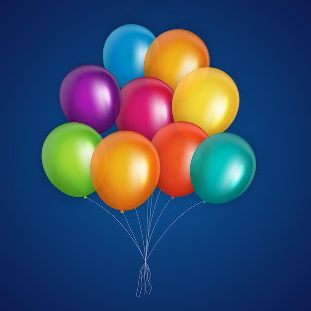 Ilustração vetorial de fundo de balões coloridos eps10 Vetor Premium