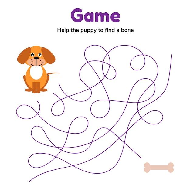 Ilustração vetorial jogo para crianças em idade pré-escolar Vetor Premium