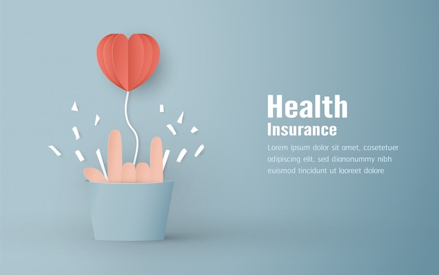 Ilustração vetorial no conceito de seguro de saúde Vetor Premium
