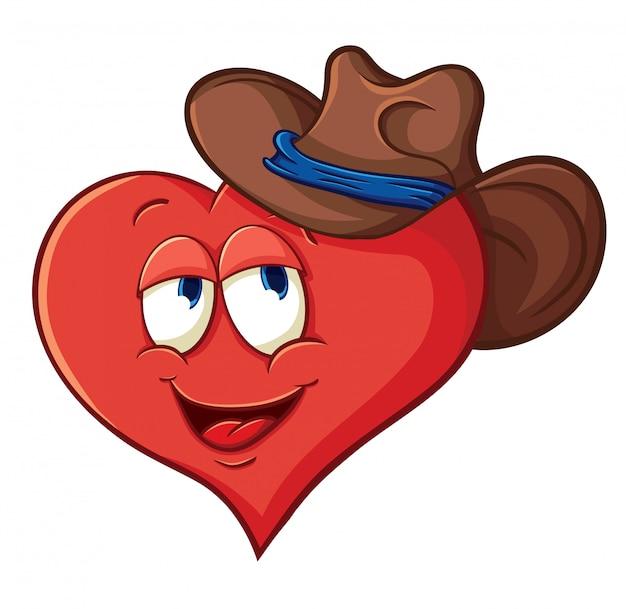 Ilustração vetorial sobre coração para dia dos namorados Vetor Premium