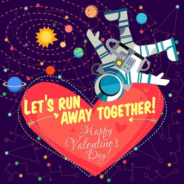Ilustração vetorial sobre o espaço para dia dos namorados. Vetor Premium