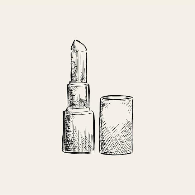 Ilustração vintage de um batom Vetor grátis