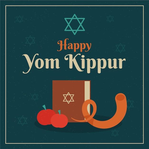 Ilustração vintage do evento de yom kippur Vetor grátis