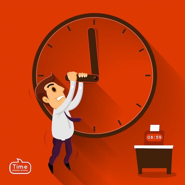 Ilustrações conceito tempo managemnet Vetor Premium