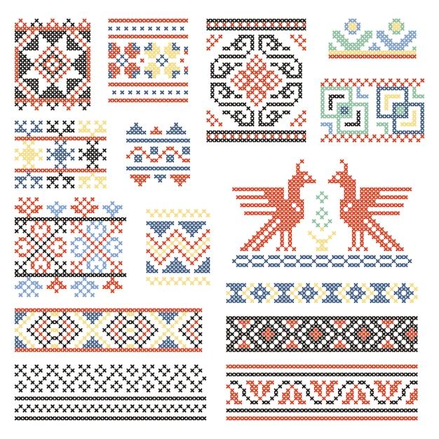 Ilustrações da cultura russa tradicional Vetor Premium