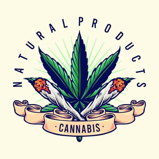Ilustrações de cannabis natural products joint smoke Vetor Premium