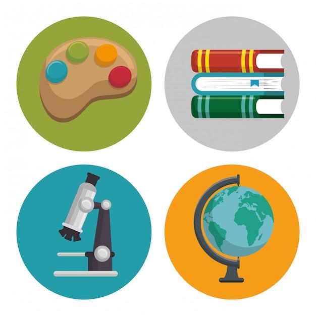 Ilustrações de conjunto de educação Vetor grátis
