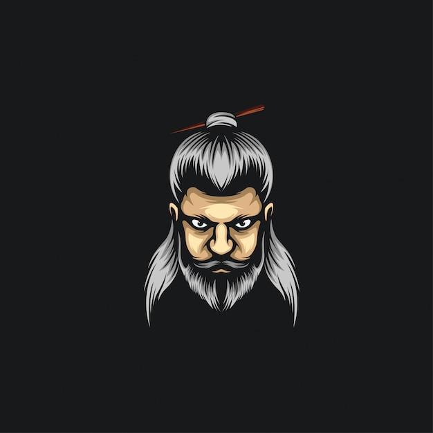 Ilustrações de logotipo de homem de pão Vetor Premium