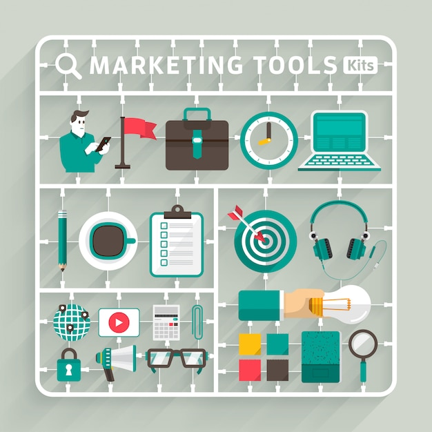 Ilustrações de marketing digital Vetor Premium