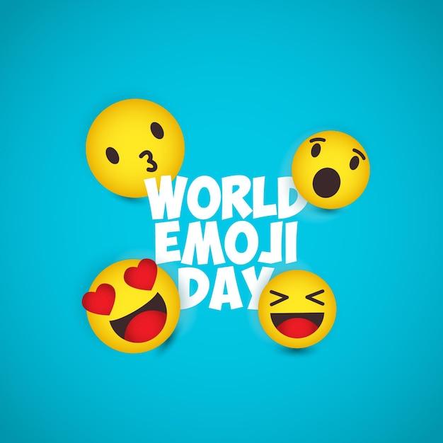 Ilustrações do dia mundial do emoji. Vetor Premium
