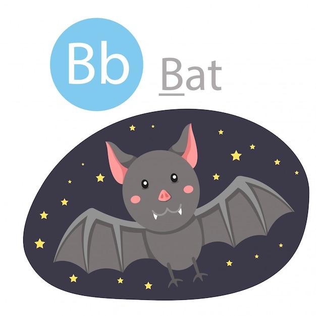 Ilustrador de b para animal de morcego Vetor Premium