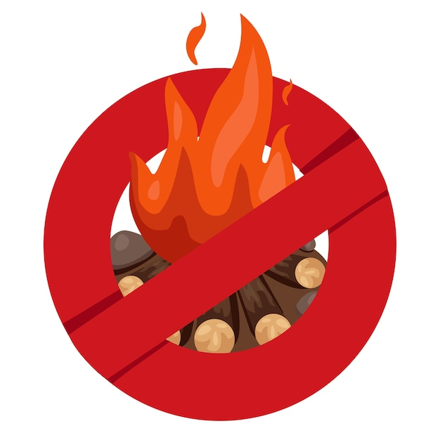 Ilustrador de segurança anti-fogueira Vetor Premium