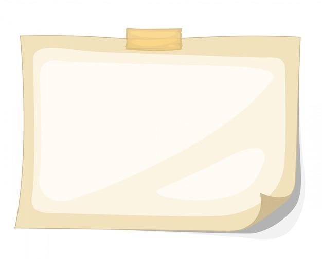 Ilustrador do vetor de papel Vetor Premium