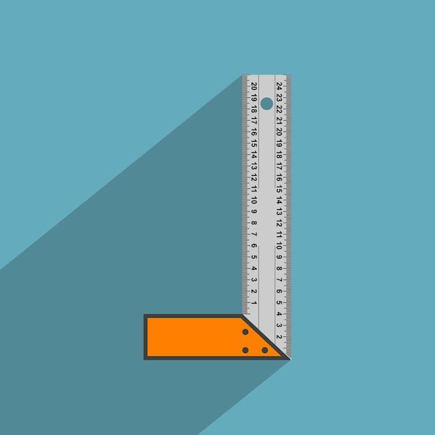 Imagem da régua angular, ícone de estilo Vetor Premium