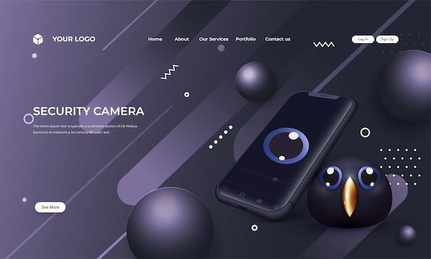 Imagem de câmera de segurança de última geração, Vetor Premium