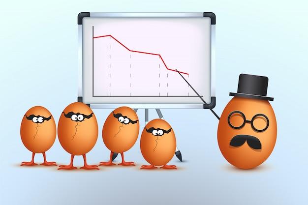 Imagem de egg boss Vetor Premium