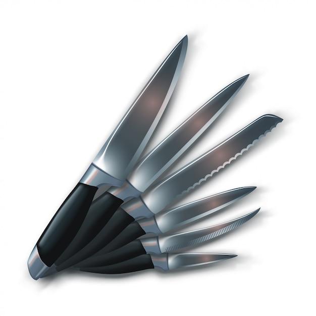 Imagem de facas Vetor Premium