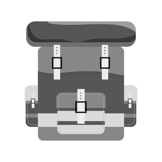 Imagem de ícone de bagpack de contorno do exército militar Vetor Premium