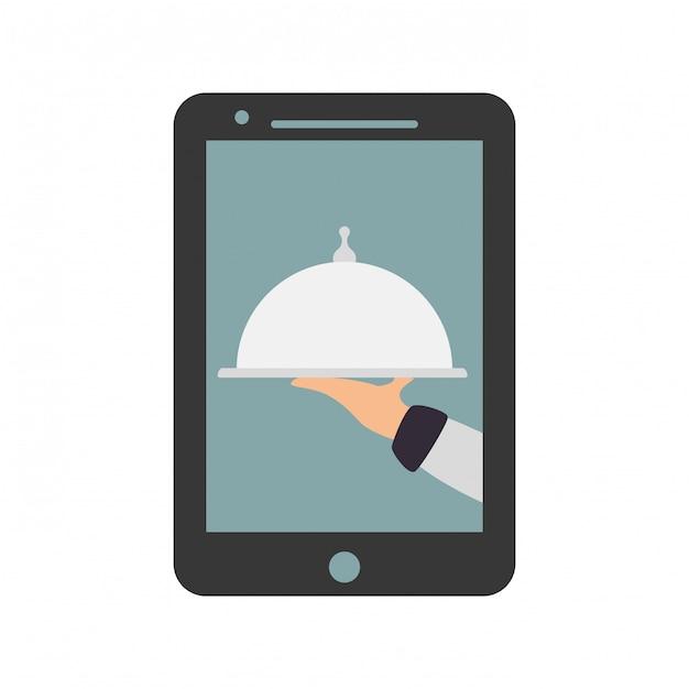 Imagem de ícone de entrega de comida Vetor Premium