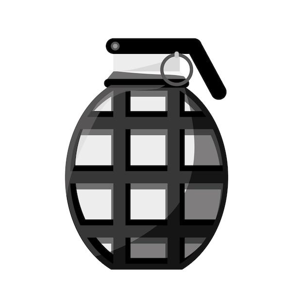 Imagem de ícone de granada de contorno de equipamento militar Vetor Premium