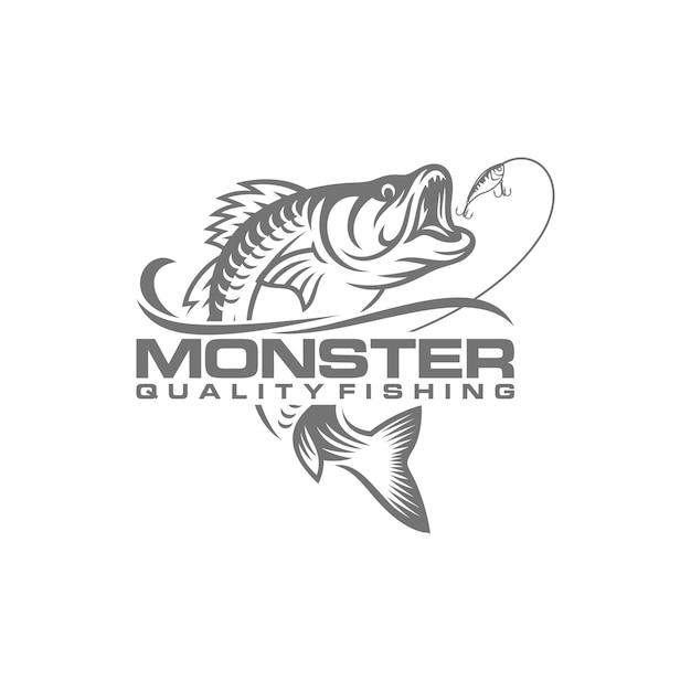 Imagem de logotipo de pesca vintage Vetor Premium