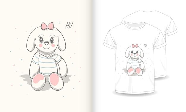 Imagens de animais fofos com t-shirt para o bebê. Vetor Premium