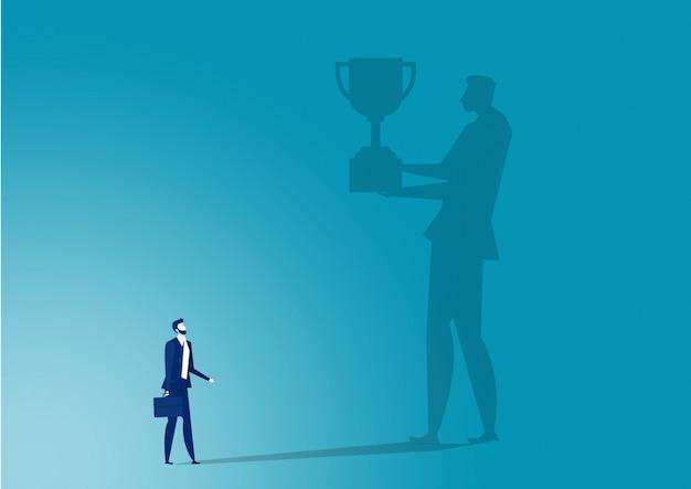 Imagens de negócios para premiar o trabalho de sucesso. Vetor Premium