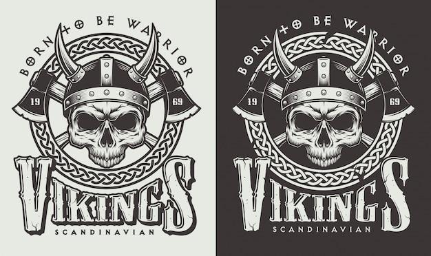 Impressão de camiseta com cabeça viking Vetor grátis
