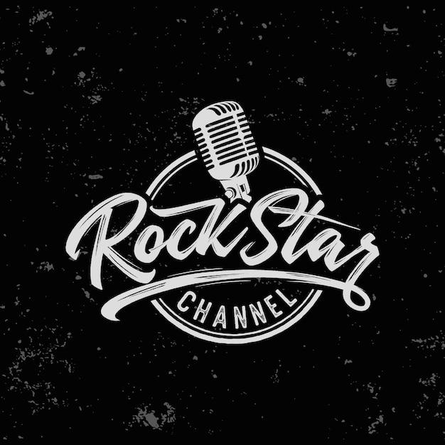 Impressão de slogan de texto de estrela do rock para camiseta e outros usos Vetor Premium