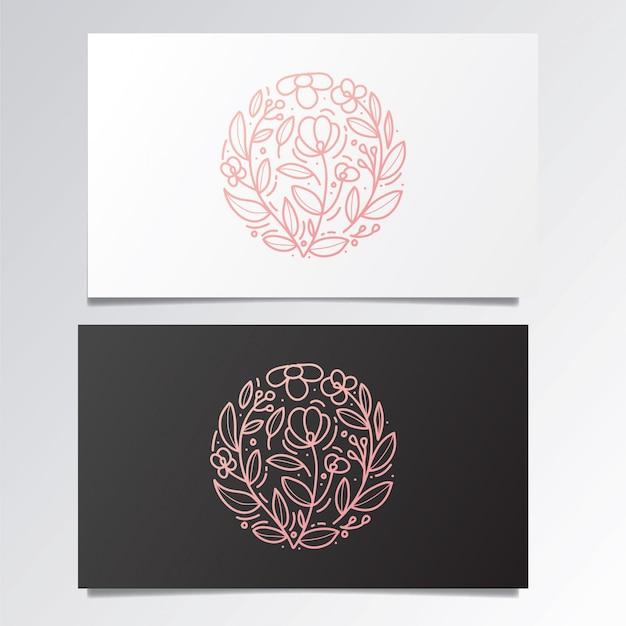 Impressionante conjunto de logotipo e cartão de visita Vetor Premium