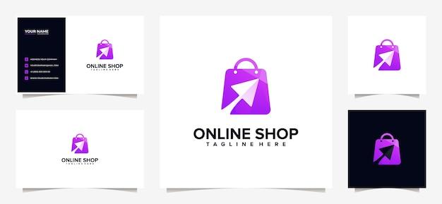 Impressionante design colorido de logotipo e cartão de visita Vetor Premium