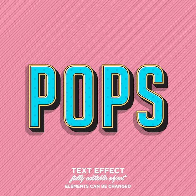 Impressionante estilo de texto pop art Vetor Premium
