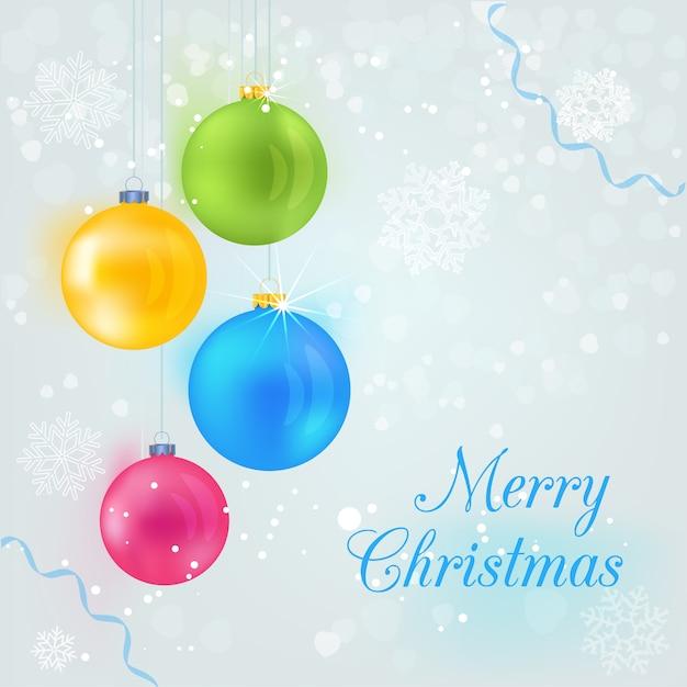 imprimir bola decoração feliz natal fundo inverno baixar vetores