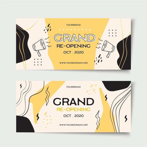 Inauguração do modelo de banner Vetor grátis